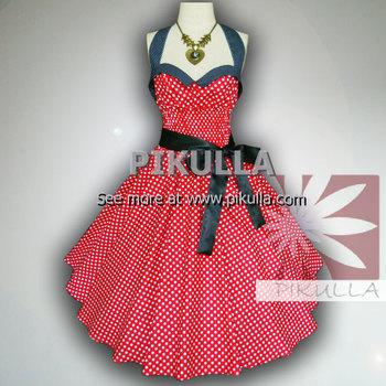 Coelho Red White Polka Dot 50 S Pin Up Rockabilly Vestido Balanço Buy Vestido Vermelho Com Bolinhas Brancas Product On Alibabacom