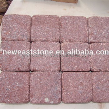 Cheap Patio Red Pyrophyllite Stones Paver Block Prices