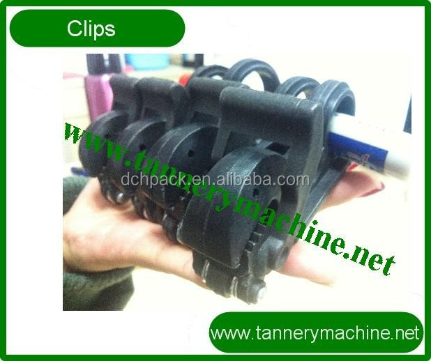 leather toggling clips for rotary toggling machine