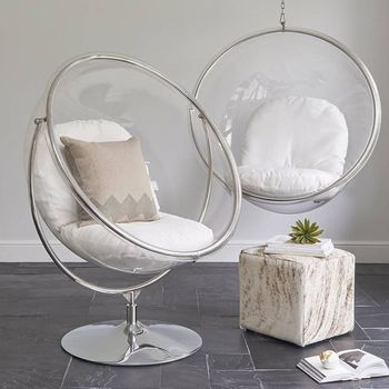 Clear Indoor Baby Swing Chair Acrylic Bubble Ball Chair Outdoor Furniture