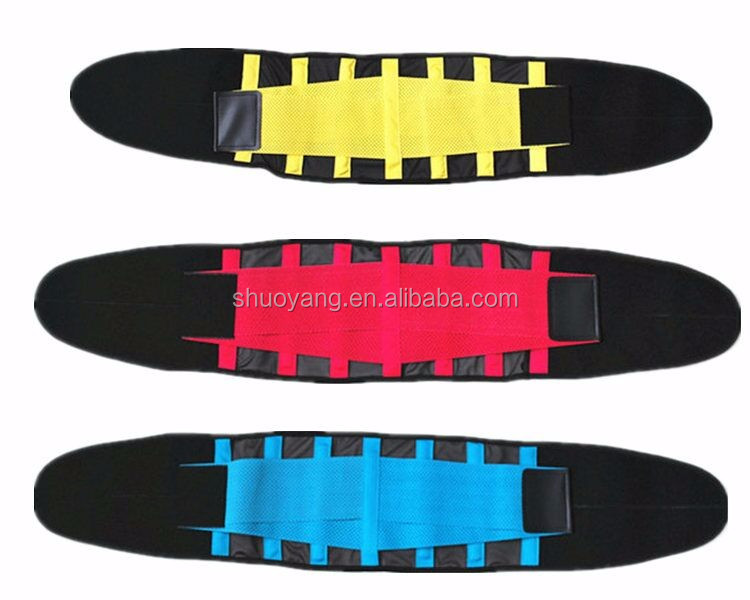 2016 Double Pull Lumbar Lower Back Support Brace Exercise colorful Belt/Waist slimming belt brace
