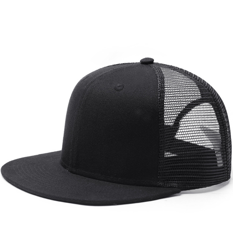 customize solid color plain mesh snapback <strong>hat</strong> wholesale
