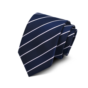 Mens Fashion 100% Silk 3 Inch Handmade Regimental Striped Skinny Tie for Formal Party Suit