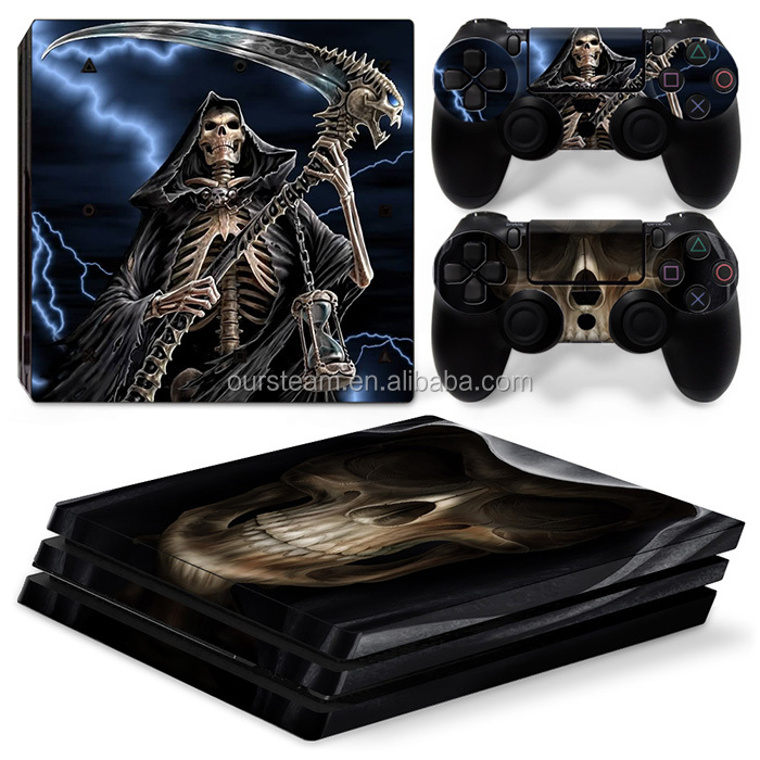 Video Games & Consoles Precise Sony Ps4 Playstation 4 Pro Skin Sticker Screen Protector Set Grim Reaper Motif Faceplates, Decals & Stickers