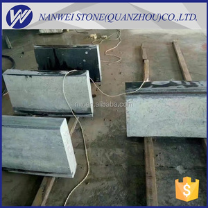 great Natural granite black block shape china ashlar; chipped ashlar; lath stone edge chamfer and polished