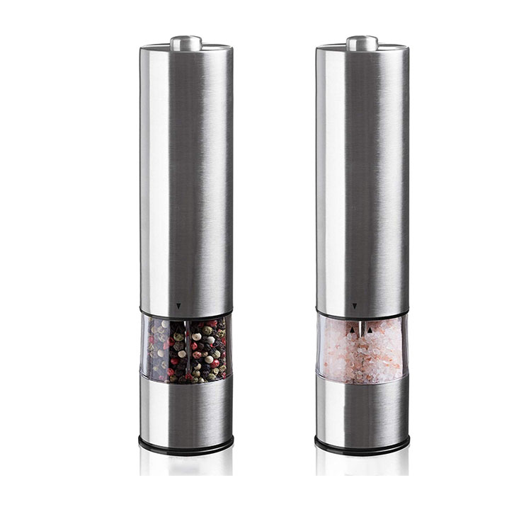 Electric Salt and Pepper grinder with Stainless Coating
