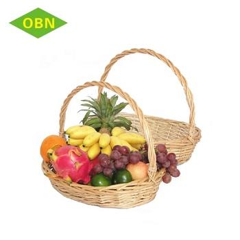 Whole Eco Friendly Por Empty Fruit Vegetable Gift Craft Supplies Wicker Basket