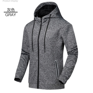 Wholesale 100%Polyester Heather Colors Mens Hoodies with Zipper Pockets