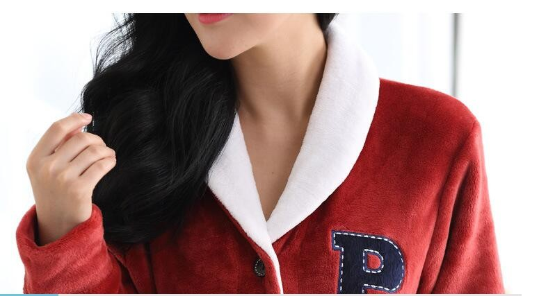 d58b1f3800 Winter Mink Cashmere Cardigan Couple Pajamas Men s Casual Sports Suit  Ladies Warm Tracksuit Modern Clothing Nightwear Kimono   Nice plus size  clothing shop ...