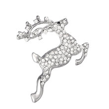 Latest Korean brooch design animal rhinestone brooches sika deer shaped brooch
