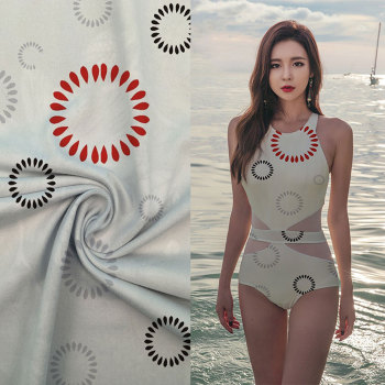 Wholesale fashion stretch polyester spandex fabric swimwear material from china supplier
