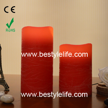 "3"" x 6"" red cinnamon pillar LED candle lights"