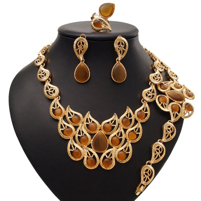 Wedding dress African jewelry sets gold plated jewelry wholesale cheap gold plated jewelry