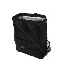 Hanging Auto Waterproof Collapsible Car Garbage Can Black Car Seat Trash Bag With Cover Lid