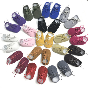 55 color Top quality genuine leather Toddler Shoes Baptism Baby Moccasins Leather Toddler Moccasins Baby Oxford Shoes