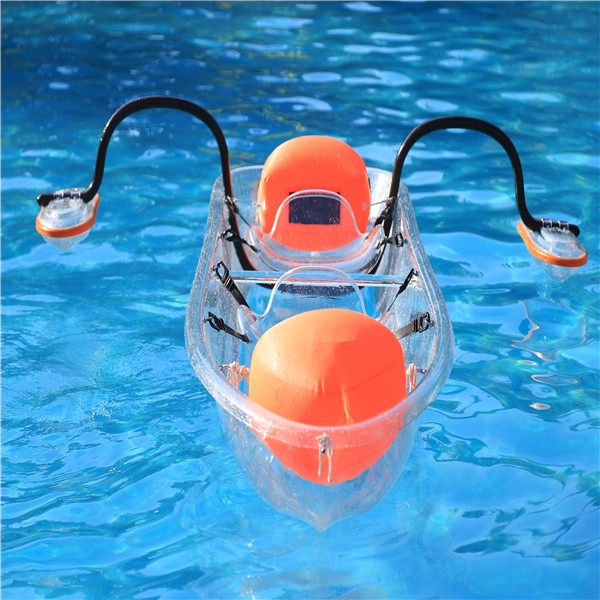 polycarbonate transparent clear fishing kayak pedal boat for sale