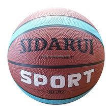 promotional gift custom logo basketball ball size 7 on bulk sale printing rubber basketball