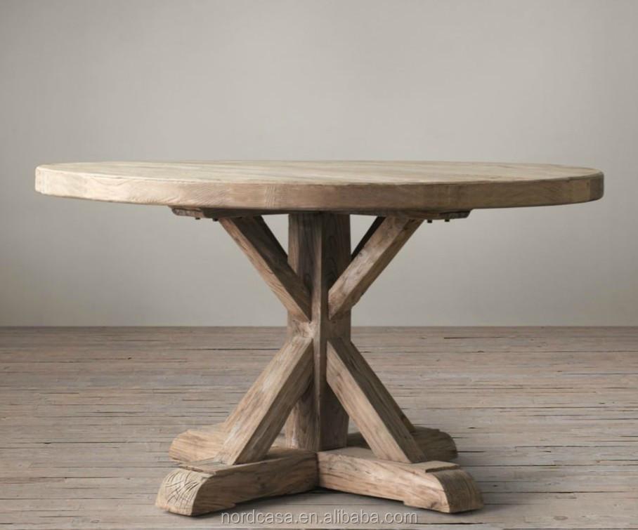 Antieke rustieke teruggewonnen hout vouwen ronde eettafel buy