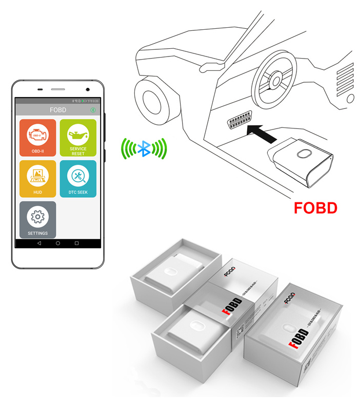 Oli Light Resest OBD2 EOBD Code Reader Android IOS Auto Diagnostic Scanner Tool
