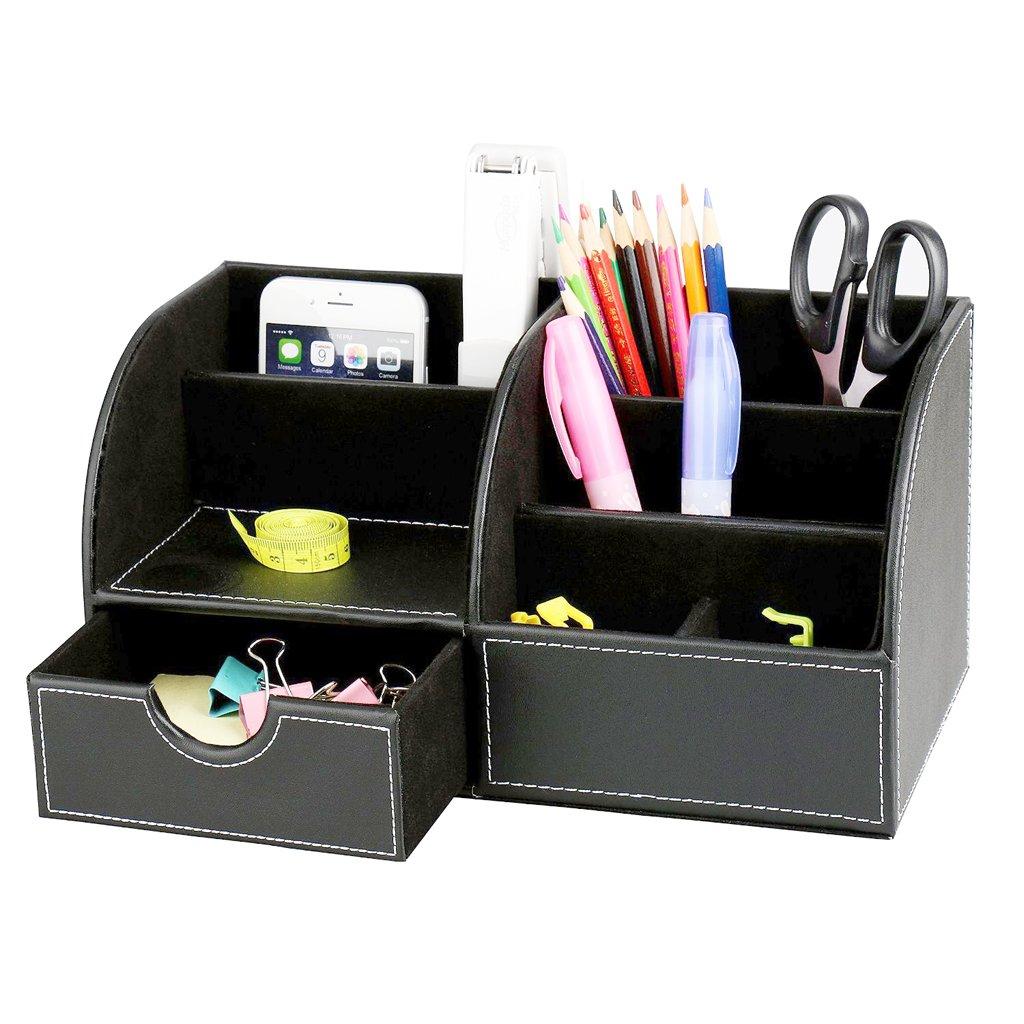 "Buy KINGOMâ""¢ 7 Storage Compartments Multifunctional PU Leather ..."