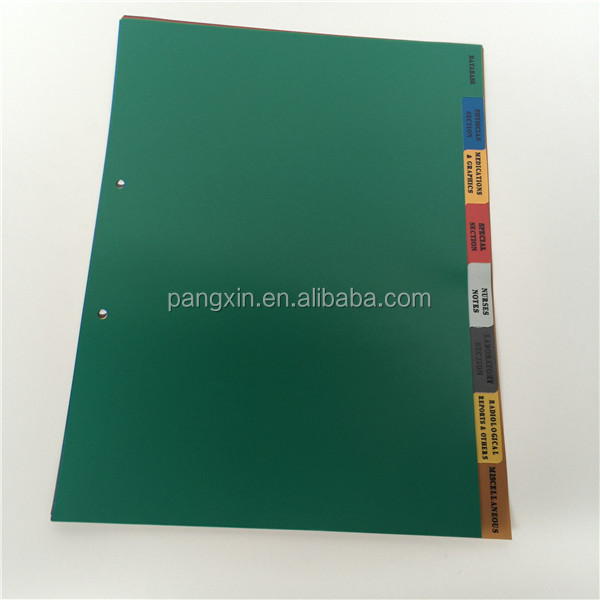 Top quality good price 10/20/ 31pages eco-friendly A4 folder tab plastic pp file dividers