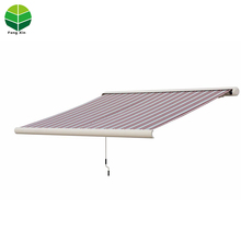 Fengxin Outdoor full cassette portable motorized awnings aluminium waterproof retractable awning for balcony