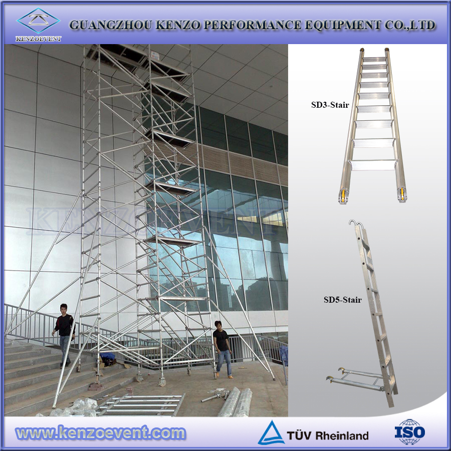 Mobile Scaffolding Product : Mobile aluminum tower scaffolding for high rise buildings