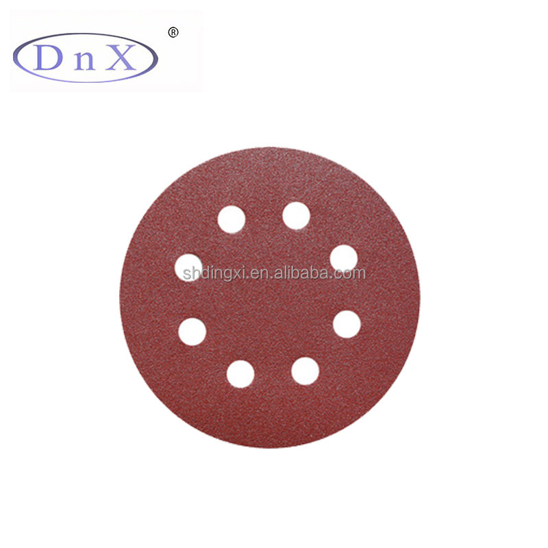 garnet abrasive sandpaper with 8 holes