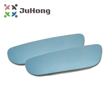 Titanium Blue Wide Angle Mirror LONG Convex Blind Spot Rear View Mirror Shatter Proof Fully Adjustable Secure Adhesive