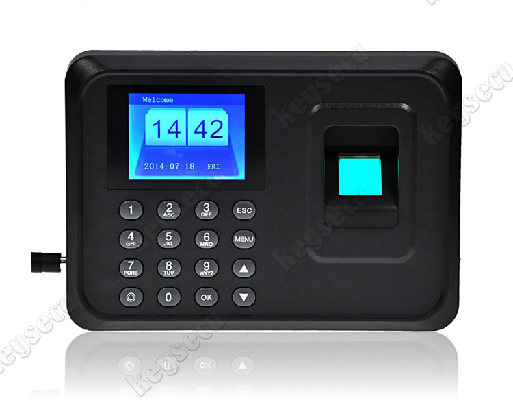 Standalone Biometric Fingerprint Time Recording Device