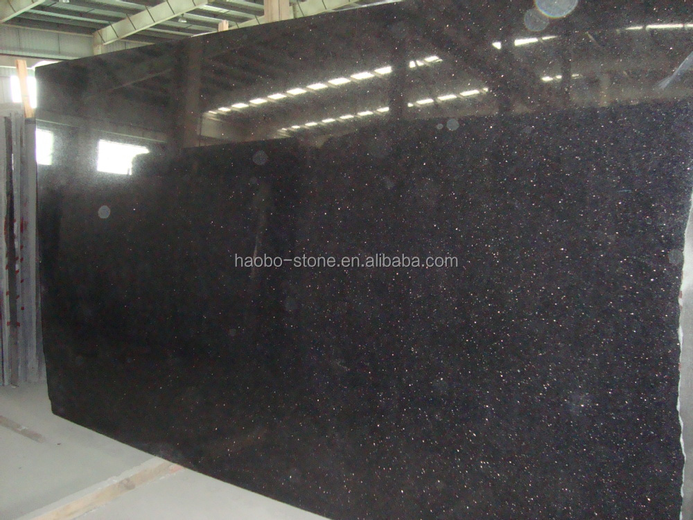 Absolute Black Galaxy Polished Granite Big Slabs