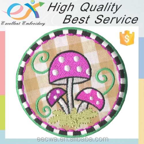 factory custom embroidered iron on applique patch
