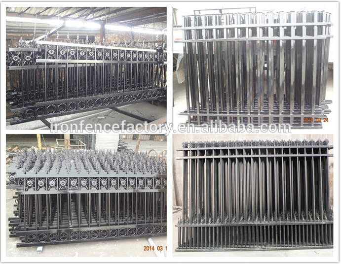 hot sale cheap used wrought iron fence panels