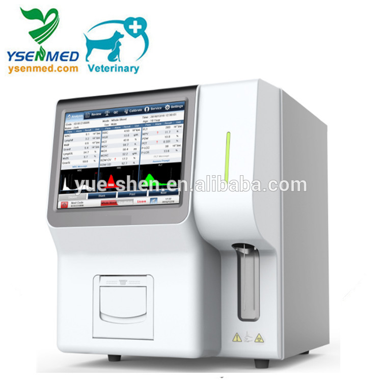 YSTE320V Medical veterinary hematology analyzer laboratory equipment 10.4 inch touch screen lcd 3 Part Hematology Analyzer