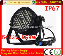 AL-WP305 54X3W LED RGBW PAR 64 Waterproof IP67 Stage Light For DJ Club KTV Party