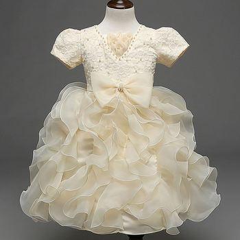Beautiful Girl Skirt Baby Girls Party Wear Wedding Dress Bridal Gown ...