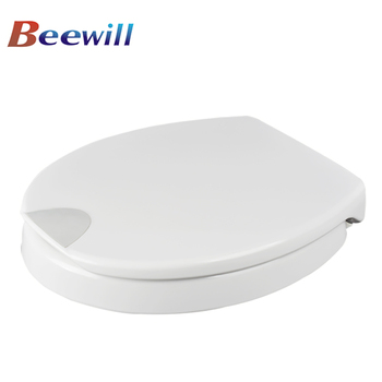 Soft close toilet seat riser for disabled