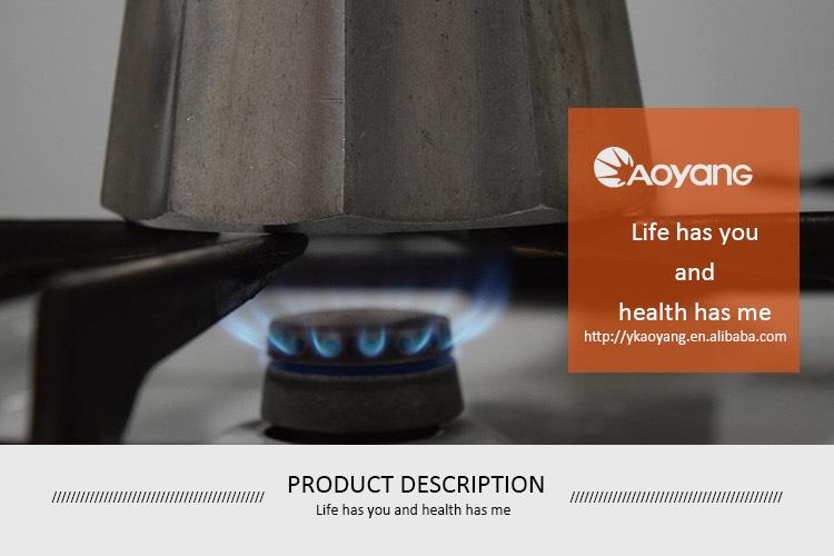 Vier branders glas gasfornuis voor high-end woningen