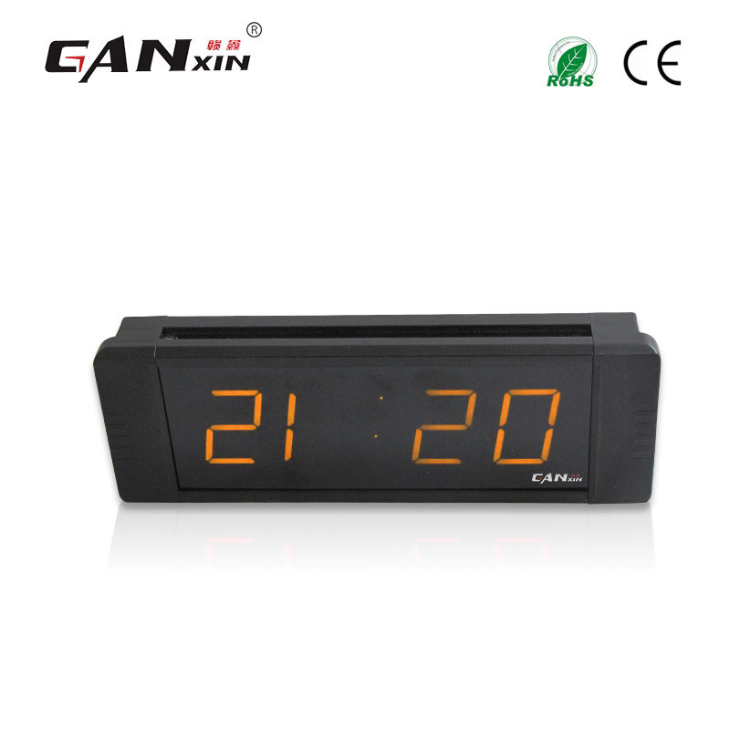 "[GANXIN]1"" Amber Portable Electronic Led Digital Timing Clock Desktop Alarm Gps Calibration"