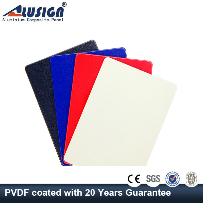 Alusign 6mm decorative exterior wall panels acm sheet with fireproof acp brand name plates
