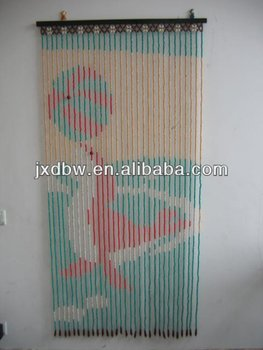 Decorative Doorway Fashion Design Wood Beads Curtain