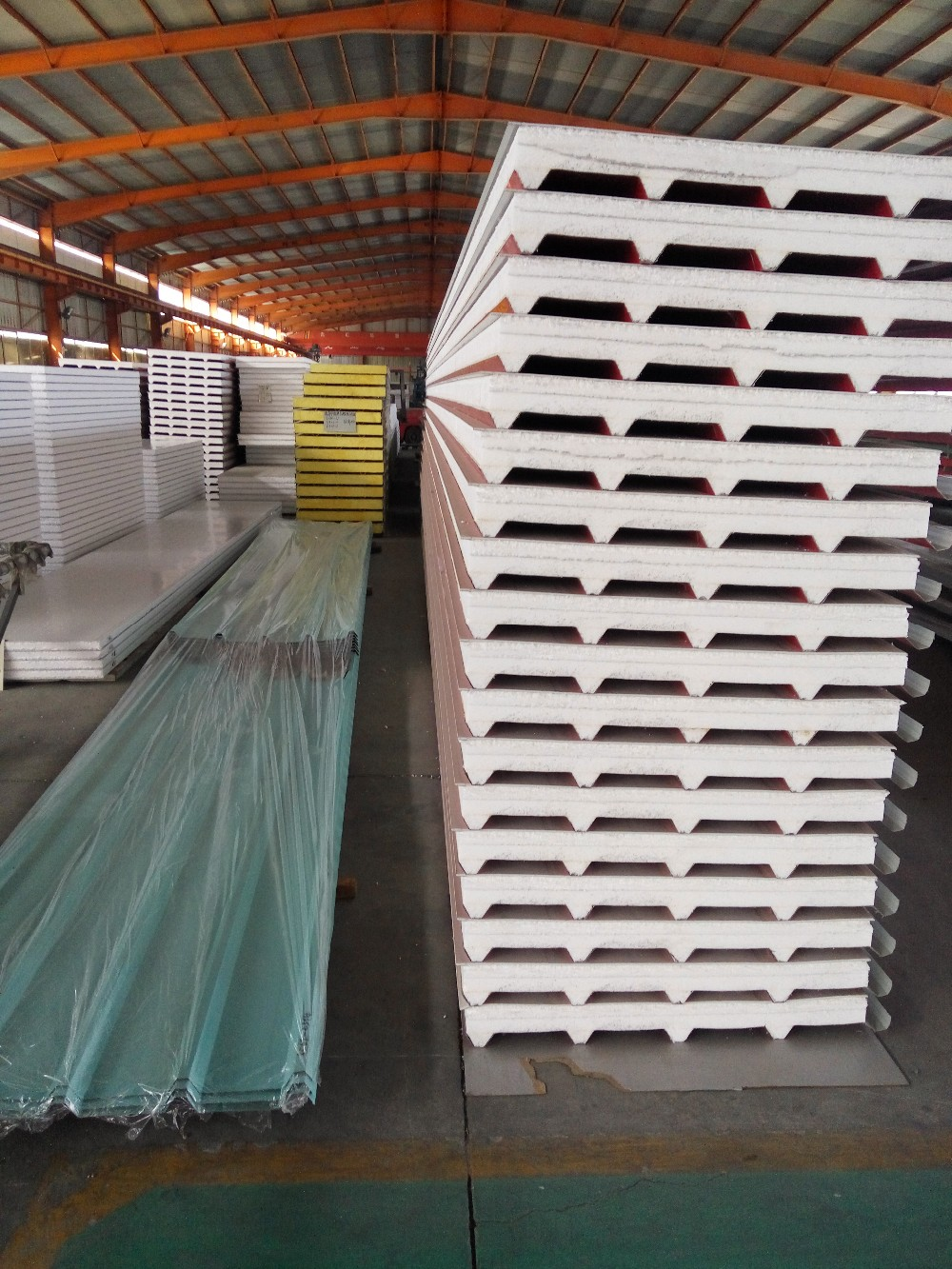 EPS PU rockwool sandwich panel used for steel construction