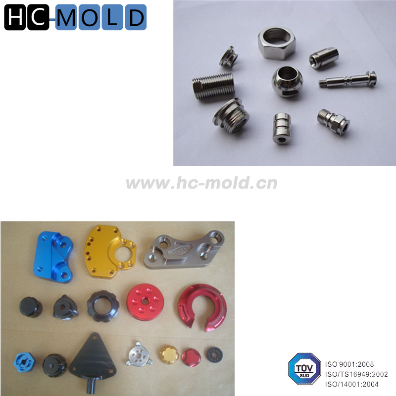 Titanium cnc milling machined aluminum parts and cnc turning parts with anodized