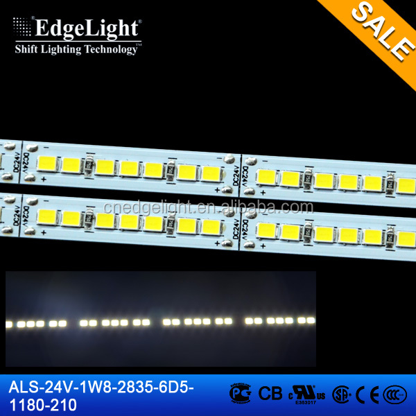 Edgelight led aluminum profile smd led pcb module ,3014 white color led light strip with remote and power supply