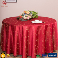 Customized Cheap 100% Polyester Wedding/Banquet/Party/Hotel/Outdoor Use Table Cover Round Table Cloth