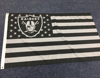 American flag with NFL team logo for Oakland Raiders