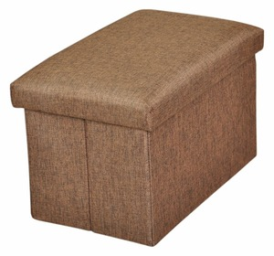 Large linen kids foldable storage stool
