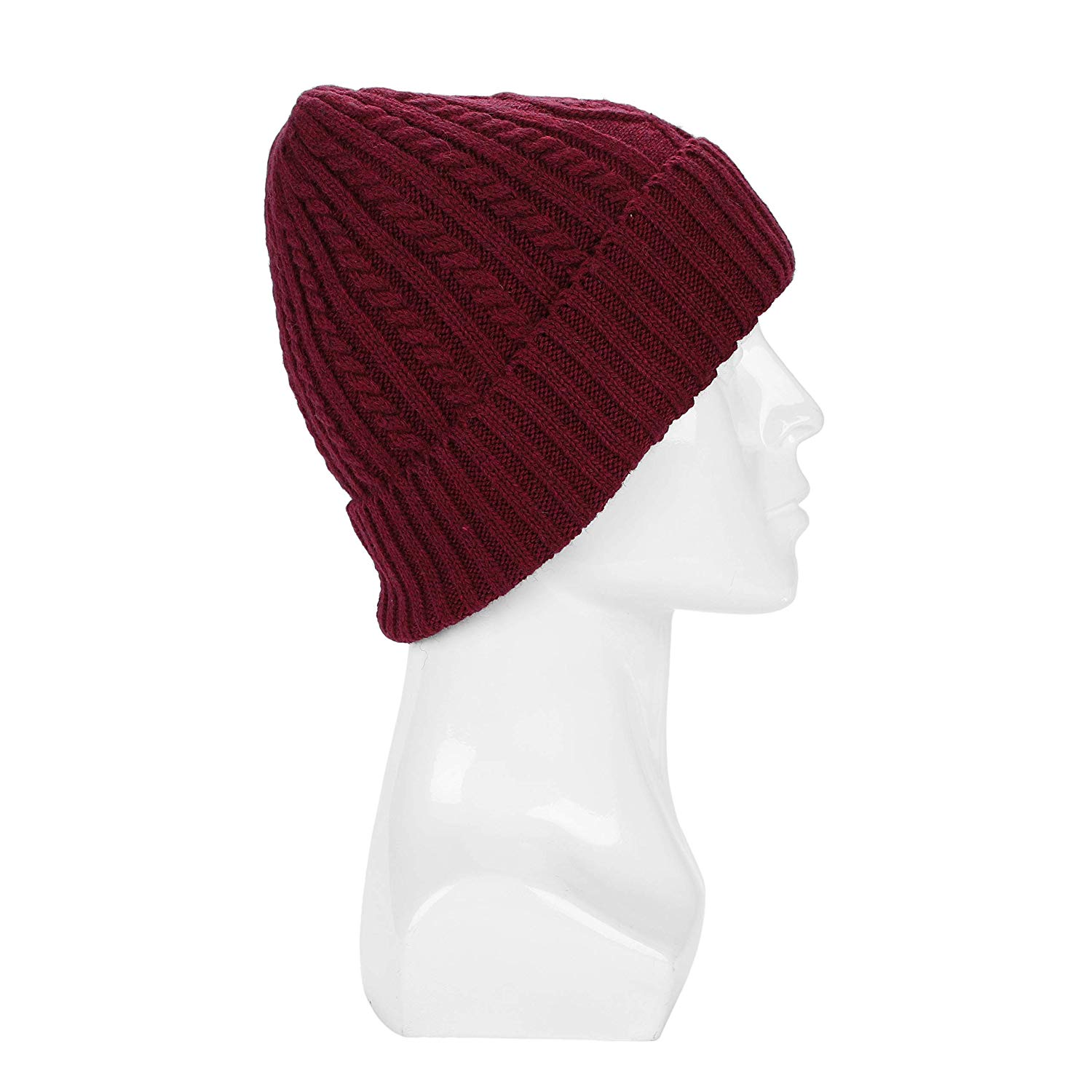 109b7f1892cb8f Get Quotations · Men Women Winter Beanie Hat with Warm Fleece Lined Thick  Slouchy Snow Knit Skull Ski Cap