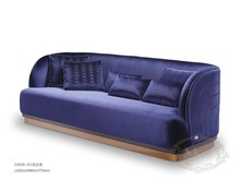 Modern luxury fabric sofa blue velvet living room sofa