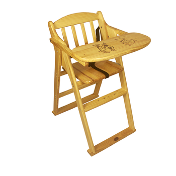 Vintage Wooden High Chair Baby Feeding Antique Highchair